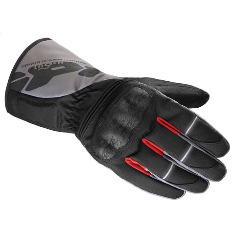 Spidi WNT-1 WP Textile Gloves-Black/Grey