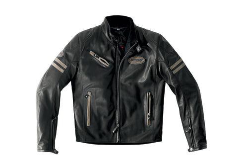 Spidi IT ACE Leather Jacket-Black/Brown Special Order