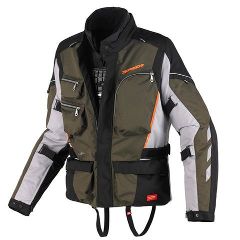 Spidi H2OUT Voyager WP Jacket-Green/Grey