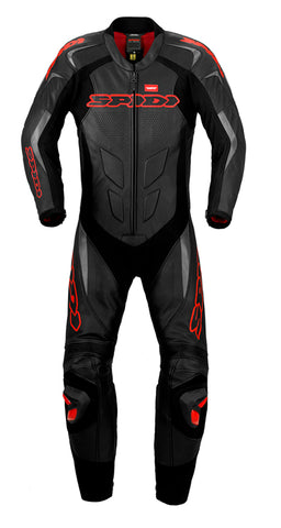Spidi Supersport Wind Pro Leather Suit-Black/Red