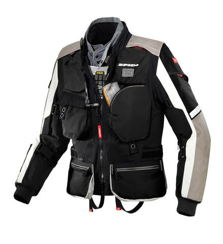Spidi H2OUT Hard Track WP Jacket-Black - Midwest Moto Shop