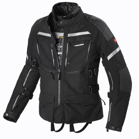 Spidi GB H2OUT Armakore CE Jacket Black - Midwest Moto Shop