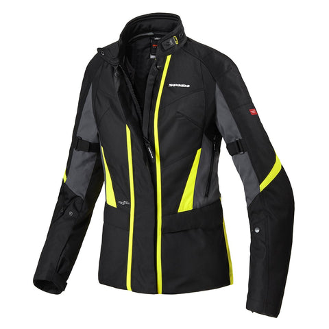 Spidi GB H2OUT Traveler 2 CE Lady Jacket Black Fluo Yellow - Midwest Moto Shop