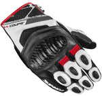 Spidi GB X4 Coupe CE Gloves Black/White/Red - Midwest Moto Shop