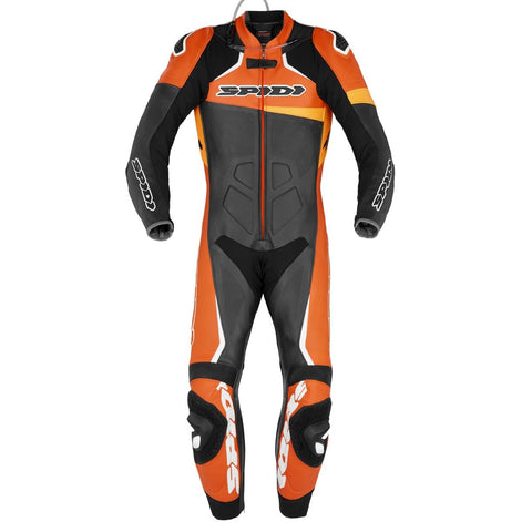 Spidi GB CE Race Warrior Perforated Pro Suit Blk Orange - Midwest Moto Shop