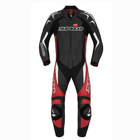 Spidi GB Super Sport Wind CE Suit Blk Red Wht - Midwest Moto Shop
