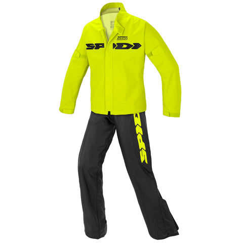 Spidi IT  Sport Rain Kit Wp - 2Pc  Blk Fluo Yell Special Order