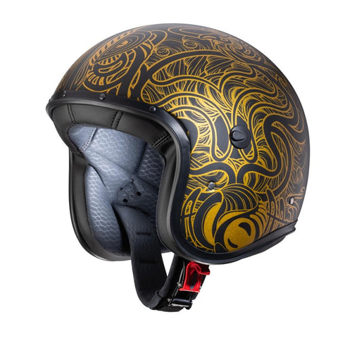 Caberg Freeride Maori Matt Black/Gold - Midwest Moto Shop