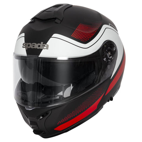 Spada Helmet Orion Pixel Matt Black/Red/White - Midwest Moto Shop