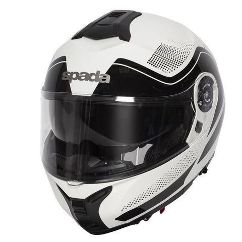Spada Helmet Orion Pixel White/Black - Midwest Moto Shop