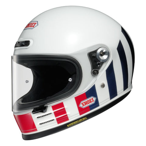 Shoei Glamster Resurrection TC10 White/Red/Blue - Midwest Moto Shop