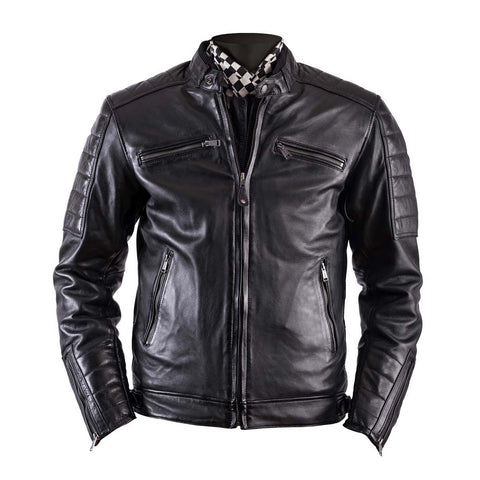 Helstons Cruiser Black Leather Jacket - Midwest Moto Shop