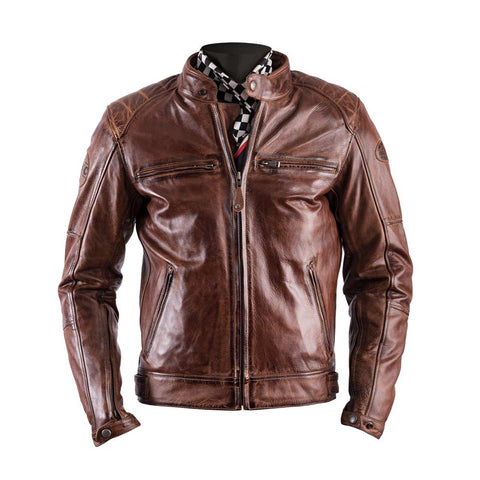 Helstons Track Camel Leather Jacket - Midwest Moto Shop