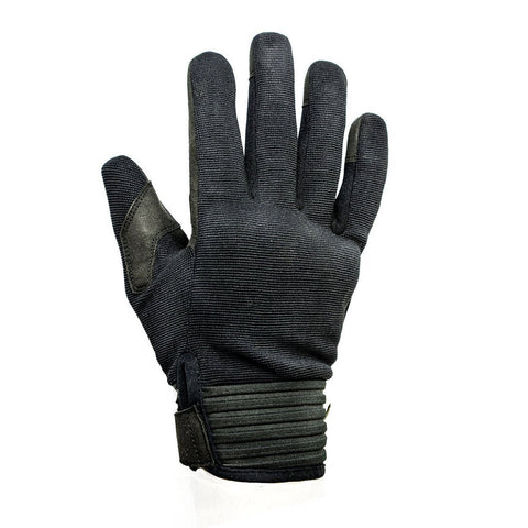 Helstons Simple Black Summer Glove - Midwest Moto Shop