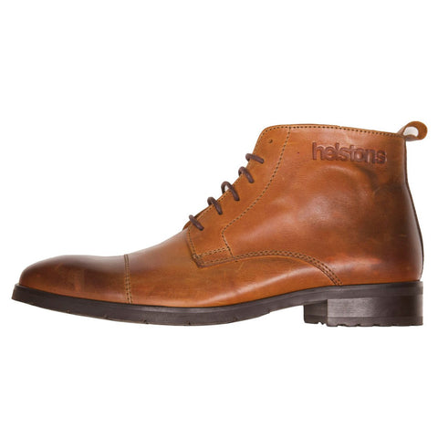 Helstons Heritage Leather Boot Camel - Midwest Moto Shop