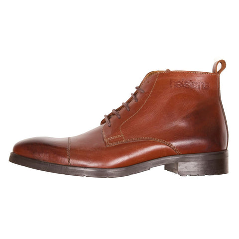 Helstons Heritage Leather Boot Brown - Midwest Moto Shop