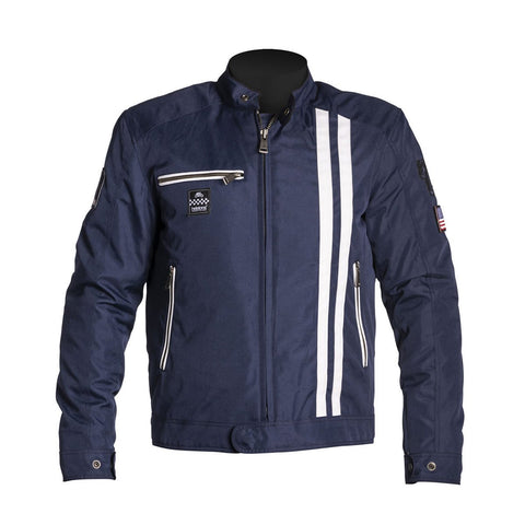 Helstons Cobra Blue White Textile Jacket - Midwest Moto Shop
