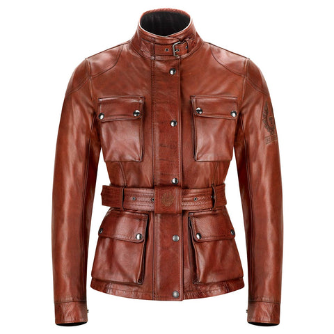 Belstaff Trialmaster Pro Ladies Motorcycle Jacket - Burnished Red - Midwest Moto Shop