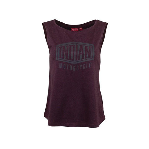 Indian Motorcycle Women's Muscle Tank Top with Shield Logo, Port