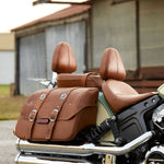 Indian Scout Genuine Leather Saddlebags Desert Tan