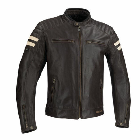 Segura Stripe Brown/Beige Jacket - Midwest Moto Shop