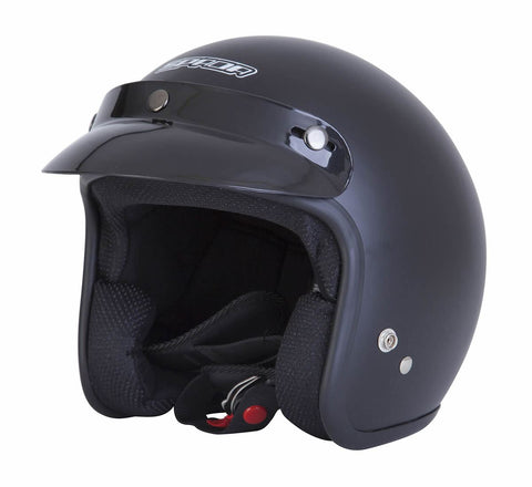 Spada Helmet Open Face Plain Matt Black - Midwest Moto Shop