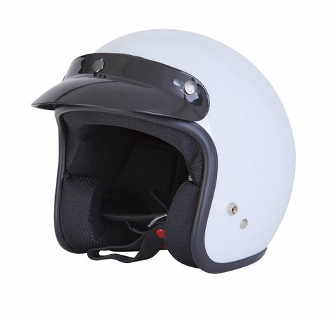 Spada Helmet Open Face Plain White - Midwest Moto Shop