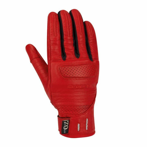 Lady Horson Red Gloves - Midwest Moto Shop