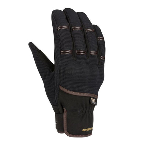 Segura Zeek Black/Brown Gloves - Midwest Moto Shop