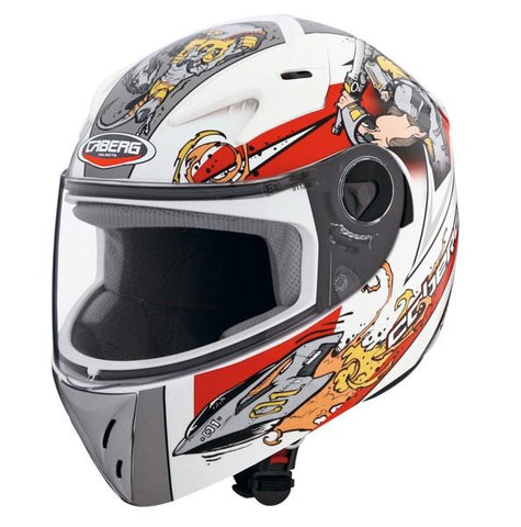 Caberg V-Kid Warrior White/Red - Midwest Moto Shop