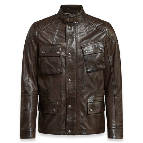Belstaff Turner Leather Jacket - Black / Brown - Midwest Moto Shop