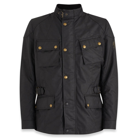 Belstaff Crosby Waxed Cotton Jacket - Black - Midwest Moto Shop