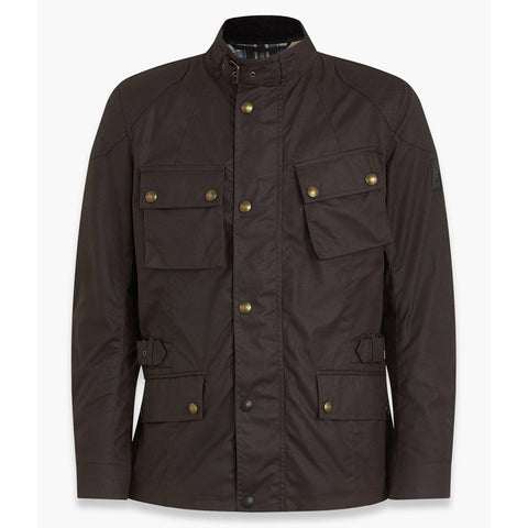 Belstaff Crosby Waxed Cotton Jacket - Mahogany - Midwest Moto Shop