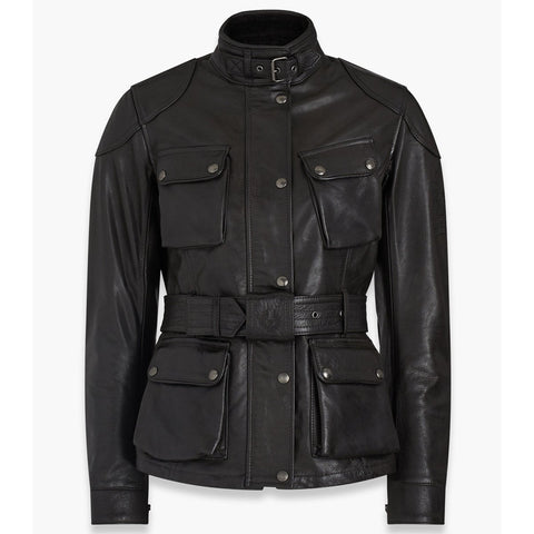 Belstaff Trialmaster Pro Hand Waxed Leather Jacket - Antique Black - Midwest Moto Shop