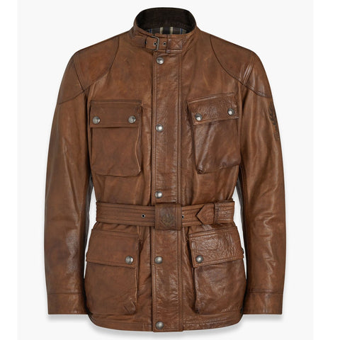 Belstaff Trialmaster Pro Hand Waxed Leather Jacket - Burnt Cuero - Midwest Moto Shop