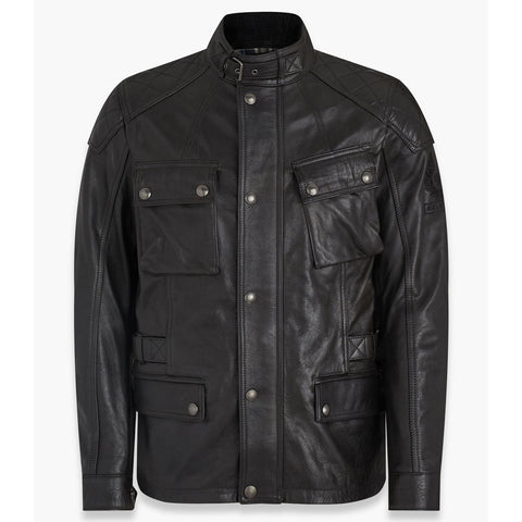 Belstaff Turner Leather Jacket - Antique Black - Midwest Moto Shop