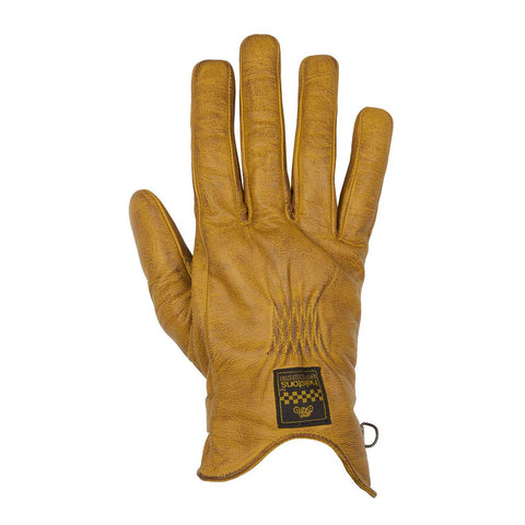 Helstons Condor Summer Gold Brown Leather Glove - Midwest Moto Shop