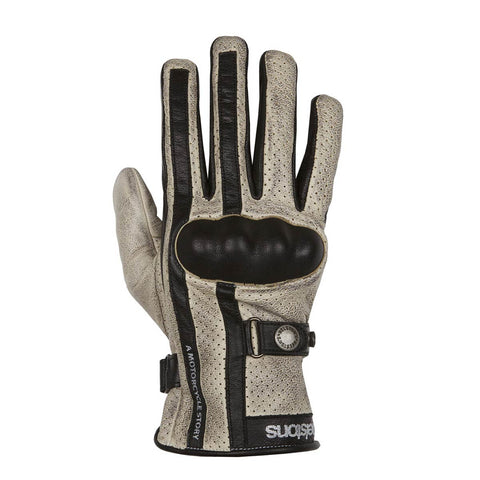 Helstons Eagle Beige/Black Summer Glove - Midwest Moto Shop