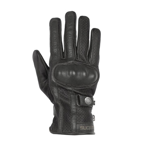Helstons Eagle Black Summer Glove - Midwest Moto Shop