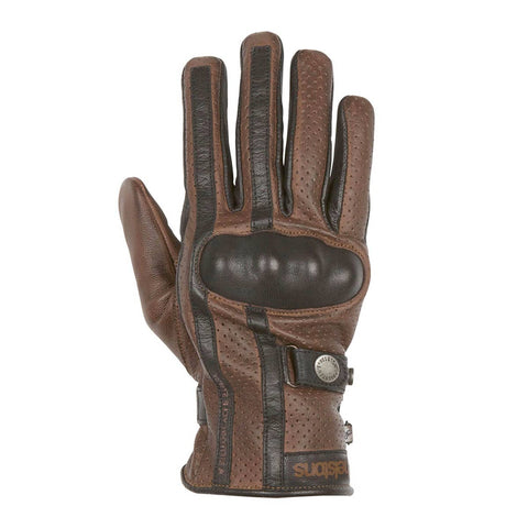Helstons Eagle Camel/Black Summer Glove - Midwest Moto Shop