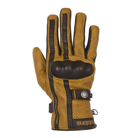Helstons Eagle Gold/Brown Summer Glove - Midwest Moto Shop