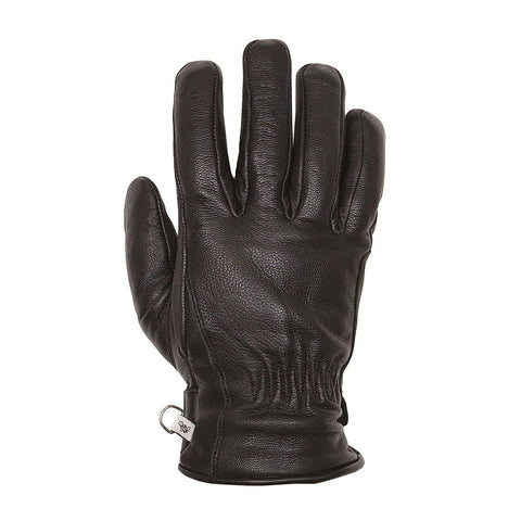 Helstons First Summer Black Leather Gloves - Midwest Moto Shop