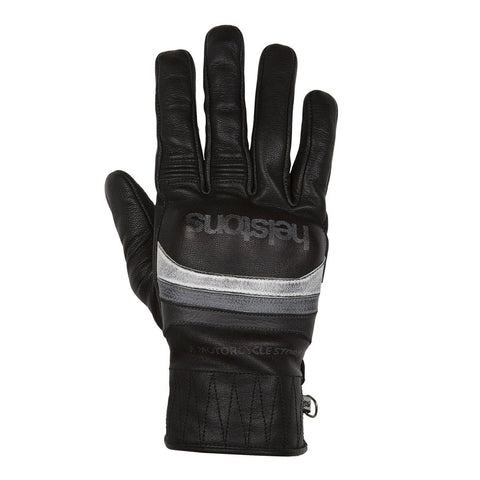 Helstons Mora Black/White/Grey Leather Summer Glove - Midwest Moto Shop
