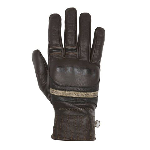 Helstons Mora Brown/Black/Beige Leather Summer Glove - Midwest Moto Shop