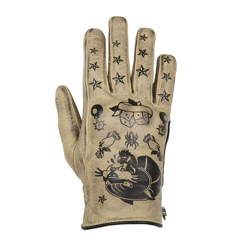 Helstons Ladies Panther Beige/Black Summer Glove - Midwest Moto Shop