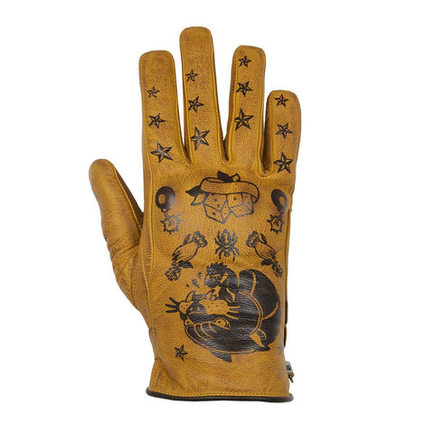 Helstons Ladies Panther Gold Summer Glove - Midwest Moto Shop