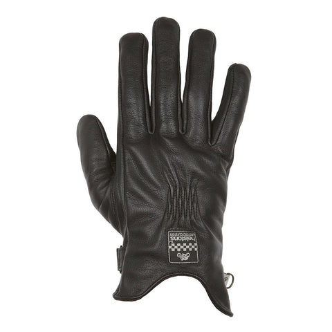 Helstons Ladies Swallow Black Leather Glove - Midwest Moto Shop