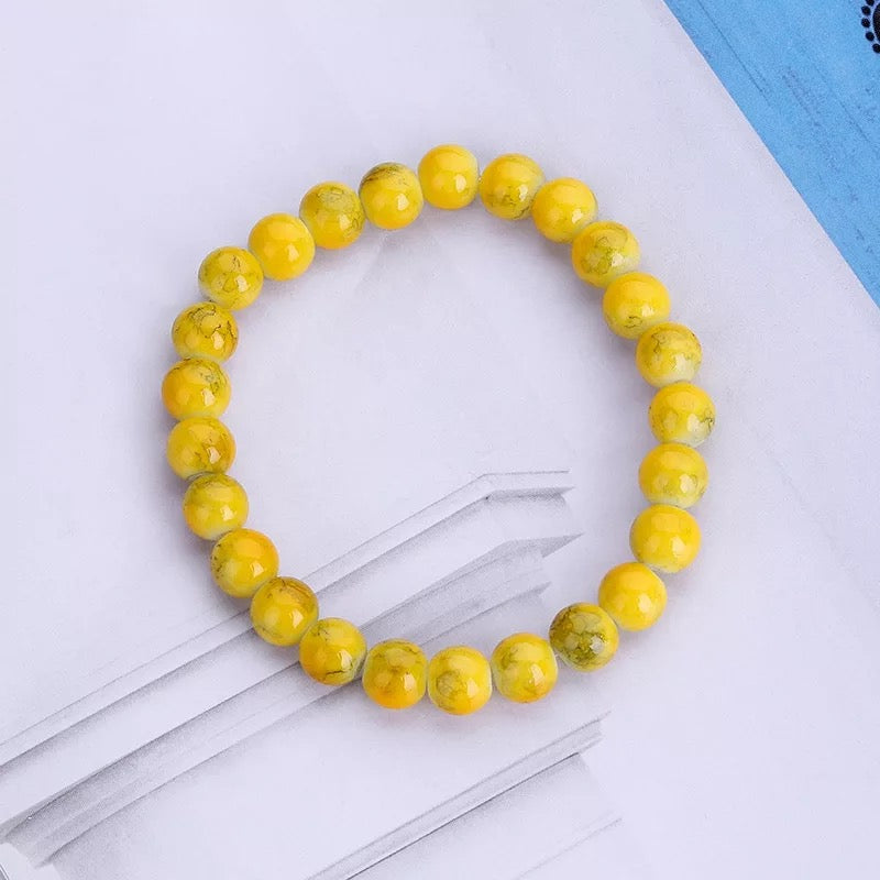 """Sunshine Lemonade"" Jade Bracelet"