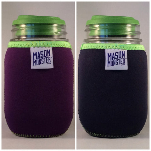 Eco Insulator™ - Pint - Reversible (Purple / Blue with Lime Green Binding & Stitching)