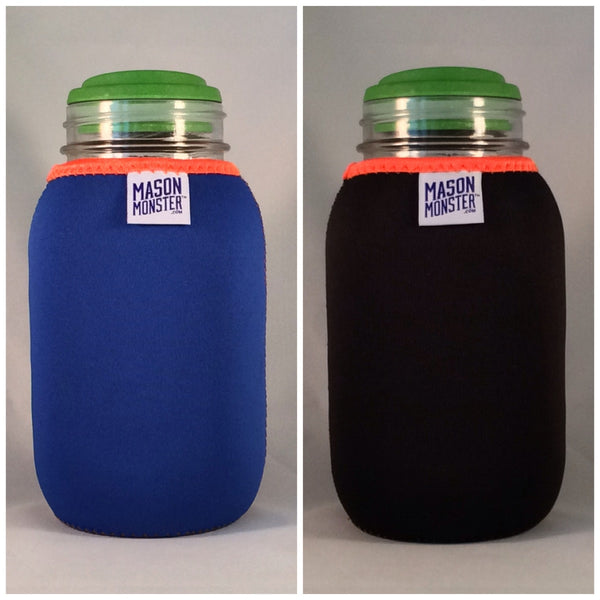 Eco Insulator™ - Quart - Reversible (Blue / Black with Orange Binding & Stitching)